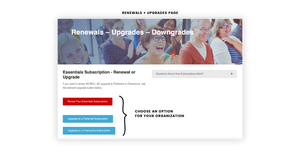Renewals and Upgrades